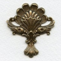 Emblazoned Bold Stamping Oxidized Brass 50mm (1)