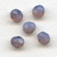 Opal Amey Fire Polished Round Faceted Beads 8mm