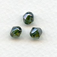 ^Loden Faceted Bicone Glass Beads 6mm