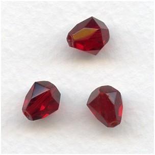Garnet Bell Shape Faceted Glass Beads 9x8mm