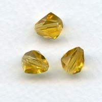 Topaz Bell Shape Faceted Glass Beads 9x8mm