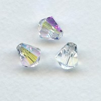 Crystal AB Bell Shape Faceted Glass Beads 10x9mm