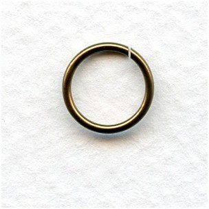 Oxidized Brass Jump Rings 10mm Round