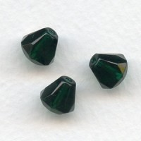 ^Emerald Bell Shape Faceted Glass Beads 9x8mm