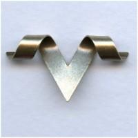 Custom Bail V-Shaped Wrap Oxidized Silver 33mm (6)