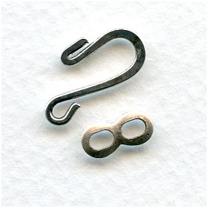 Hook and Eye Closures Oxidized Silver
