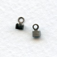 ^End Clamps for 2mm Cord Dark Antique Silver-Plated (12)