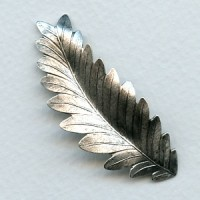 Long Dapt Leaves 54mm Oxidized Silver (2)