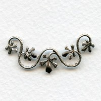 Vine With Leaves Swag 38mm Oxidized Silver (2)