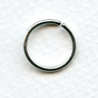 ^Jump Rings 15mm Round Oxidized Silver (24)