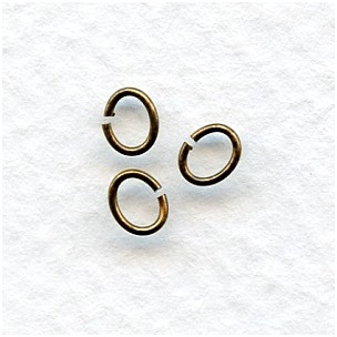 ^Small Oval Jump Rings Oxidized Brass 5x4mm