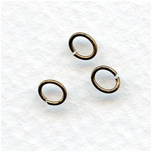 Thin Oval Jump Rings Oxidized Brass 5x4mm