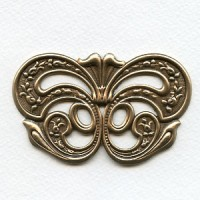 Enormous 85mm Stamping Embellishment Oxidized Brass (1)