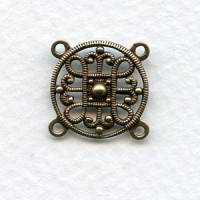Filigree Four Loop 15mm Connectors Oxidized Brass (2)
