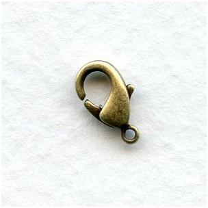 Tiny Lobster Claw Clasps Oxidized Brass 10x5mm (12)