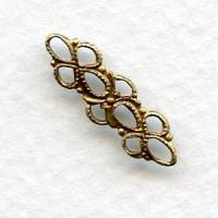 Dainty Filigree Connectors 20mm Oxidized Brass (12)