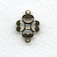 Filigree Connectors Solid Oxidized Brass 17mm (12)