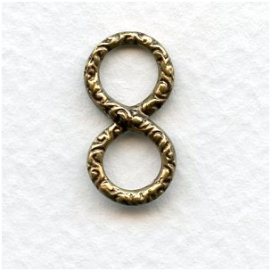 Infinity Symbol Connectors 20mm Oxidized Brass (6)