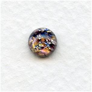 Amethyst Glass Opal Cabochons Handmade 7mm