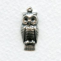 Wise Owl Oxidized Silver 23mm (12)