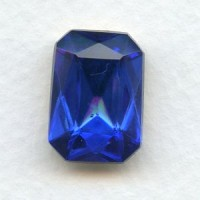 Octagon 18x13mm Sapphire Foiled Faceted Stone (1)