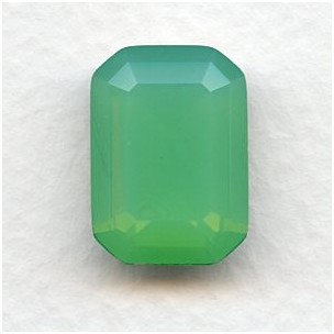 Octagon 18x13mm Opal Green Foiled Faceted Stone (1)