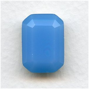 ^Octagon 18x13mm Opal Blue Foiled Faceted Stone (1)