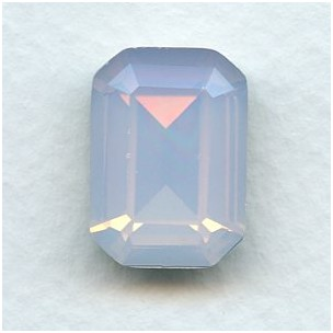 Octagon 18x13mm Pink Opal Foiled Faceted Stone (1)