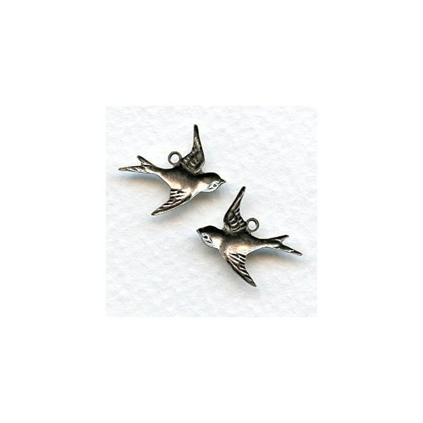 Flying bird pendants oxidized silver 6 pairs display all pictures aloadofball Images