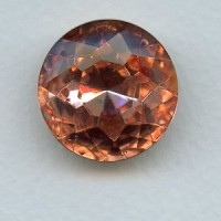 ^Rosaline Glass Round 25mm Foiled Jewelry Stone (1)