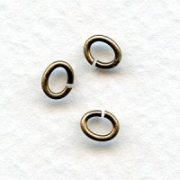 Small Oval Jump Rings Oxidized Brass 5x4mm