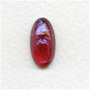 Dragons Breath Opal Glass Pendeloque Stones 18x9mm (2)