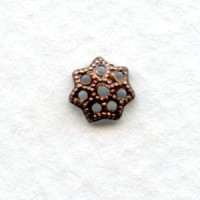 Filigree Petal Shape Bead Caps 6mm Oxidized Copper (50)