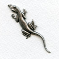 Gecko Stampings 62x15mm Oxidized Silver (2)