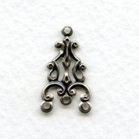 Gothic Style Three Strand Connectors Silver (12)
