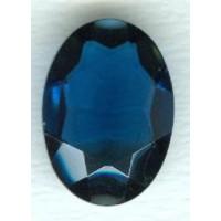 Montana Blue Oval Glass Stone 25x18mm