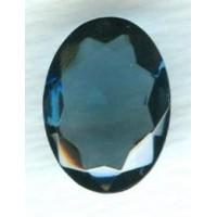 Montana Blue Oval Glass Stone 18x13mm