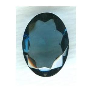 ^Montana Blue Oval Glass Stone 18x13mm