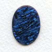 Blue Paua Shell Cabochon 25x18mm (1)