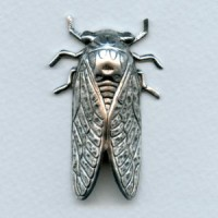*Cicada Bug of Summer Oxidized Silver 49mm (1)