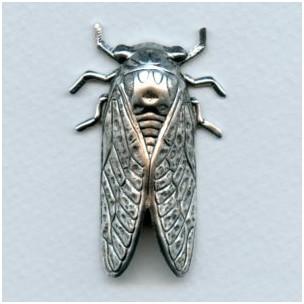 Cicada Bug of Summer Oxidized Silver 49mm (1)