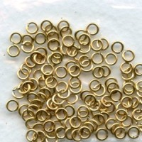 Round Jump Rings 4mm Cleaned Raw Brass 21 Gauge