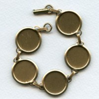 Bracelet Finding Oxidized Brass 18mm Settings (1)