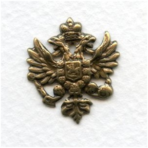 Coat of Arms Heraldry Oxidized Brass 25mm (6)