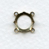 Setting Connectors Oxidized Brass Four Loops 9mm