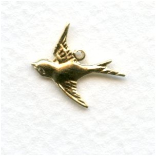 Westward Flying Bird Pendants Raw Brass (12)