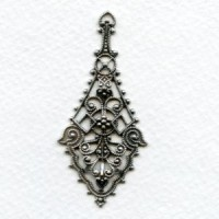 *The Ultimate Filigree Pendants Oxidized Silver 55mm (2)