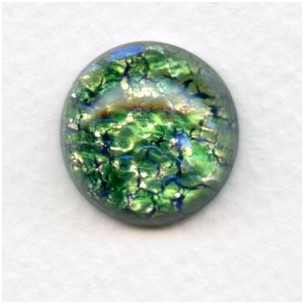 Green Glass Opal Cabochon Round 18mm 1