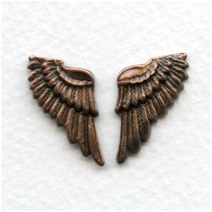 These Wings Look Real! Oxidized Copper (6 sets)