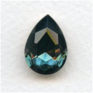 Montana Blue Glass Pear Shape Jewelry Stone 18x13mm (1)